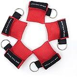 CPR Maske Schlüsselanhänger Ring Emergency Kit Rescue Face Shields mit Einweg-Ventil Atem Barriere für Erste Hilfe oder AED T