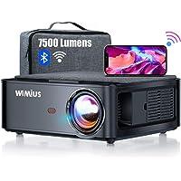 Beamer, WiMiUS 7500 L Full HD 1080P WiFi Bluetooth Beamer Unterstützung 4K Video, LED Heimkino Video Beamer 300…