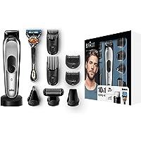 Braun MGK7020 10-in-1 Trimmer, für Bart, Kopf und Körper, mit AutoSense-Technologie, Edelstahl-Trimmerkopf, schwarz/silber
