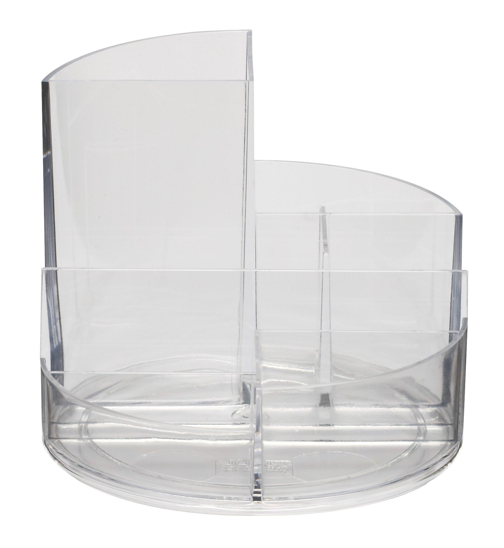 Maul–Portapenne rundbox, 6scomparti ABS resistente agli urti Trasparente