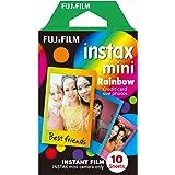 Fujifilm Instax Mini Film Pellicola Istantanea per Fotocamere Rainbow, Formato 46x62 mm, Confezione da 10 Foto
