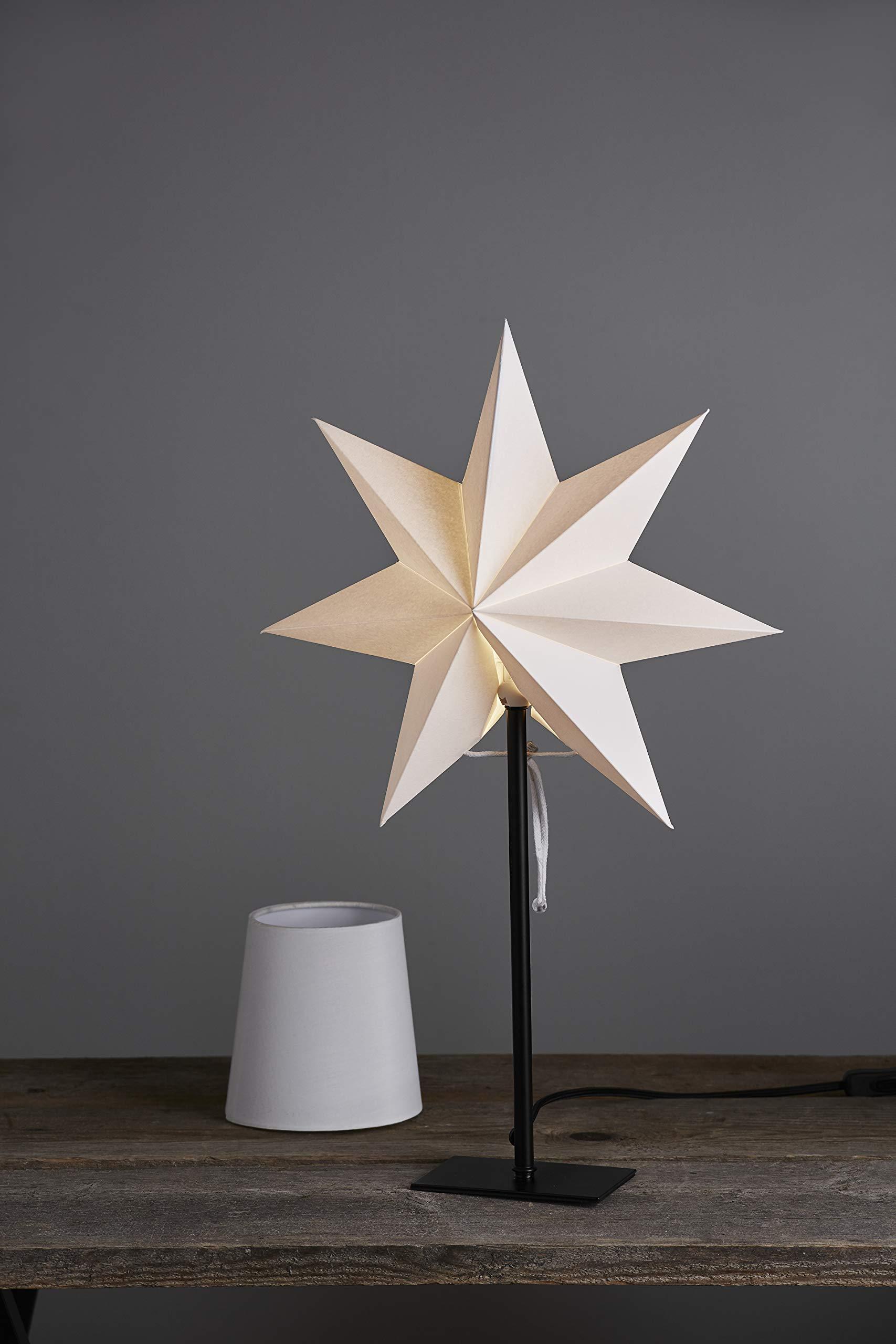 Star-Combi-Pack-Frozen-Stern-und-Lampenschirm-E14-Papier-wei