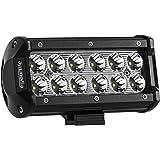 Eyourlife LED Auto Scheinwerfer Offroad Arbeitsscheinwerfer 12 Inch Strahler Zusatzscheinwerfer Arbeitslicht Wasserdicht Außenstrahler 36W