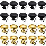 Counius 20pcs massieve kastknop Ronde kastknoppen Deurknoppen 28 MM Paddestoelmeubels met één gat Handgrepen met schroeven vo