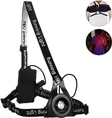 Laluztop Running Light, USB Wiederaufladbar Laufen Light 3 Modi 250 LM Wasserdicht Verstellbar, Ideal für Schulweg Joggen Spazieren Gassi Gehen Sicher zu Gehen