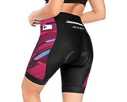 NICEWIN Biker Shorts for Women Padded Cycling Tights High Waist Riding Short Leggings