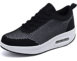 Donna Sneaker Scarpe Dimagranti Scarpe da Ginnastica Casual Tennis Piattaforma Running Sneakers Fitness Sportive Zeppa Outdoo