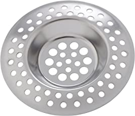 WENKO 4930302100 Abfluss-Sieb - 2er Set, Edelstahl rostfrei, Silber matt