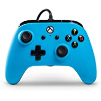 PowerA Wired Officially Licensed Controller for Xbox One, Xbox One S, Xbox One X & Windows 10 - Blue