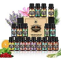 Huiles essentielles 18 * 10ML, arbre à thé, lavande, eucalyptus, encens, citronnelle, romarin, orange, menthe, citron…