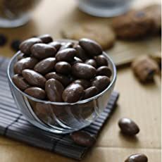fab box Chocolate Coated Almonds Oven Roasted Sweet and Delicious Evening Snack for Boys and Girls - 100 grams