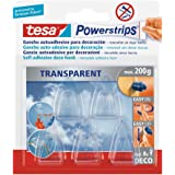 tesa 58900-00014-02 58900-00014-02-Powerstrips PS transparent Deco Hooks, piccolo