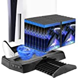 Socle vertical refroidissant pour console PS5 avec deux ports de commande, compatible avec la console PlayStation 5 et l'édit
