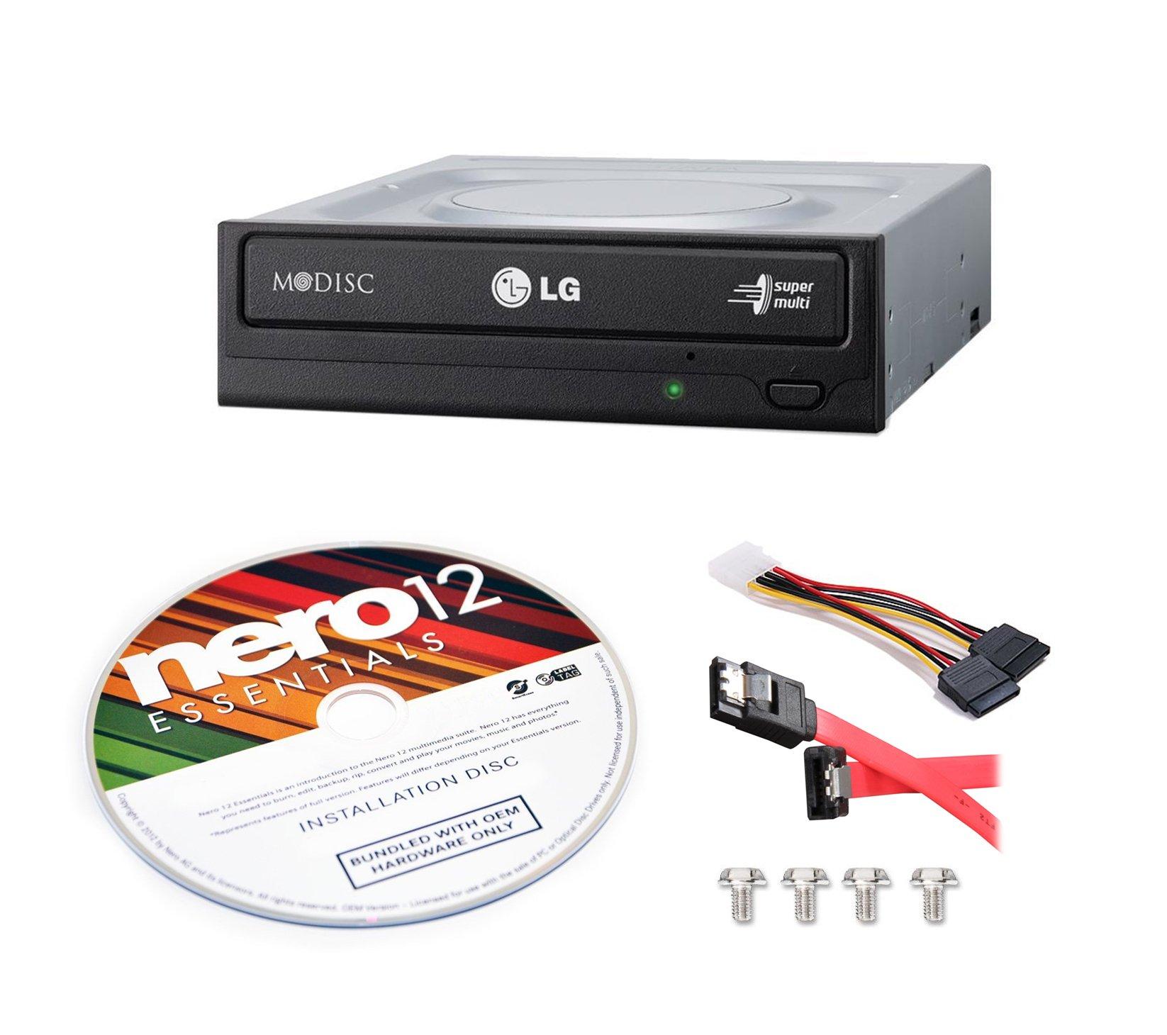 Bestduplicator LG 24x SATA masterizzatore DVD interno Drive W/m-disc Support GH24NS95B (nero) Bulk