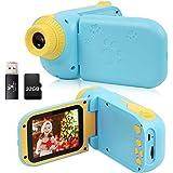 Cámara para niños, cámara digital DV para niños con tarjeta de memoria 1080P HD 32G, cámara de juguete para niños como regalo