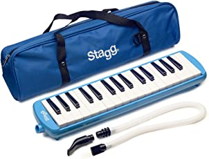 Stagg MELOSTA32BL 32-Noten Melodica mit Tasche blau