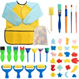 Surplex Kit di 42 Strumenti educativi Spugna da Pittura per Bambini, Apprendimento Precoce Spugna Kit di pennelli per Pittura
