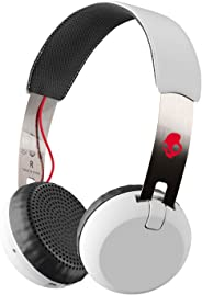 Skullcandy Grind Bluetooth Wireless On-Ear Headphones - White/Black/Red (SCS5GBW-J472)
