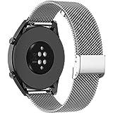 KOMI Metal Correas de Reloj para Gear S3 Frontier/Classic/Galaxy Watch 46 mm, Reemplazo de Correa de Acero Inoxidable (22 mm,