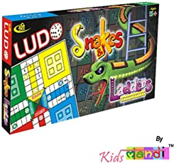 Kids Mandi Ludo Snake and Ladder Jr Travel Kit