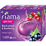 Fiama Gel Bar Blackcurrant and Bearberry for radiant glowing skin, with skin conditioners, 125 g soap (Pack of 3)