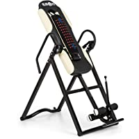 Klarfit Ease Delux - Table d'inversion, Banc d'inversion Max 136kg, Revêtement pour Massage Dorsal avec Fonction chauffante