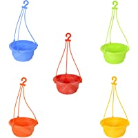 VREENY Hanging pots, Planter Pots for Small Plants, Railing Flower Plant, and Balcony Plant Pots, Vertical Hook for Home…