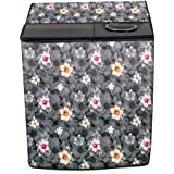 Stylista Washing Machine Cover Compatible for LG 8.0 kg 5 Star Semi-Automatic Top Loading Washing Machine P8030SGAZ Floral Pa
