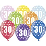 """Unbekannt PartyDeco 10 Luftballons 12"""" Party Geburtstag Jahrestag (Zahl 30)"""