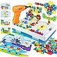 yoptote 224 PCS Juguetes Montessori Puzzles 3D Mosaicos Infantiles Manualidades Niños Dinosaurios Juguetes Educativos Bloques