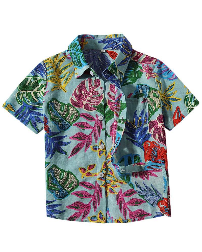Camisa Estampada para Bebé Niños Camiseta Manga Corto Camisa De Imprimir Tops 1