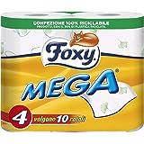 Amazon Foxy Mega - Carta Igienica, Pratica e decorata - 4 Rotoli