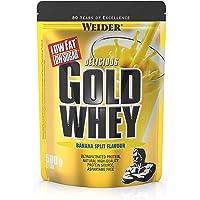 Weider Gold Whey Protein Banane-Split, Low Carb, Eiweißpulver für Fitness und Bodybuilding, 500g