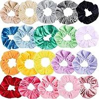 Sinwind 20 Chouchous Bandeaux bandes velours cheveux élastique bandes de cheveux filles pour Scrunchie femmes ou…
