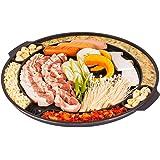 CookKing CKMT Master Grill Pan, Korean Traditional BBQ Indoor/Outdoor Nonstick Plate, Made in Korea