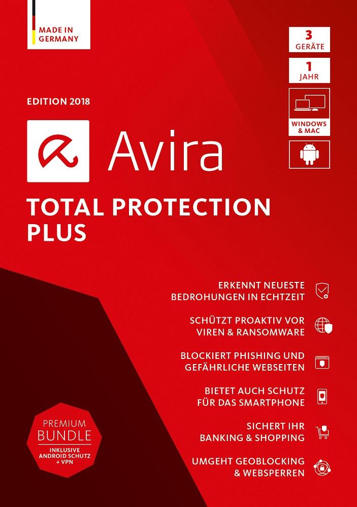 Avira Total Protection Plus Edition 2018, 3 Geräte