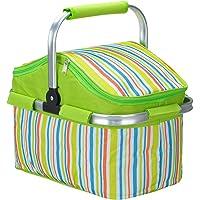 Lysport 20L Zusammenklappbare Kühltasche Korb für Arbeitung,Party, BBQs und Outdoor Picknick(Grün)