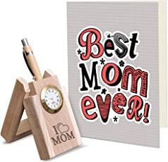 TIED RIBBONS Mothers Day Special Gifts | Gift for Mother in Law | Mothers Day Gifts from Son | Mothers Day Gifts | Wooden Penstand with Greeting Card