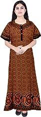 Mudrika Women Cotton Nighty, Gown, Sleepwear, Nightwear, Maxi - Soft and Stylish Night Suit, Cotton