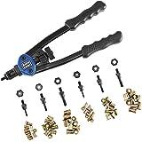 """Astro Pneumatic Tool 1442 13"""" Hand Rivet Nut Setter Kit - Metric & SAE W/ 60pc Rivnuts"""