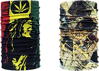 Noise NOIHWPCMB120 Bob Marley and Golden Navigator Multifunctional Polyester Bandana, Free Size (Multicolour)