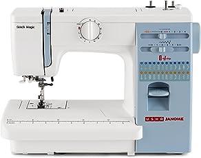 Stitching machine buy stitching sewing machine online at best usha janome automatic stitch magic 70 watt sewing machine white and blue fandeluxe Gallery