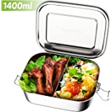Lunch Boxes for Adults with Compartment - Babyhelen 1400ml Stainless Steel Bento Boxes with Removable Dividers, Bento Lunch Box | Salad Lunch Box | Food Organizer Sandwich Box for Kids Adults