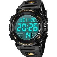 Orologi, orologio digitale da uomo, cronografo sportivo impermeabile da esterno 50M per uomo con retroilluminazione a…