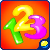 Learning numbers for toddlers - animated interactive educational game for preschool children to learn numerals from 1 to 9 in several languages while doing absorbing game tasks and training fine motor skills, memory, attention, curiosity, intellect