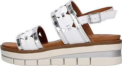 GRUNLAND SA2541 Sandalo Bianco da Donna
