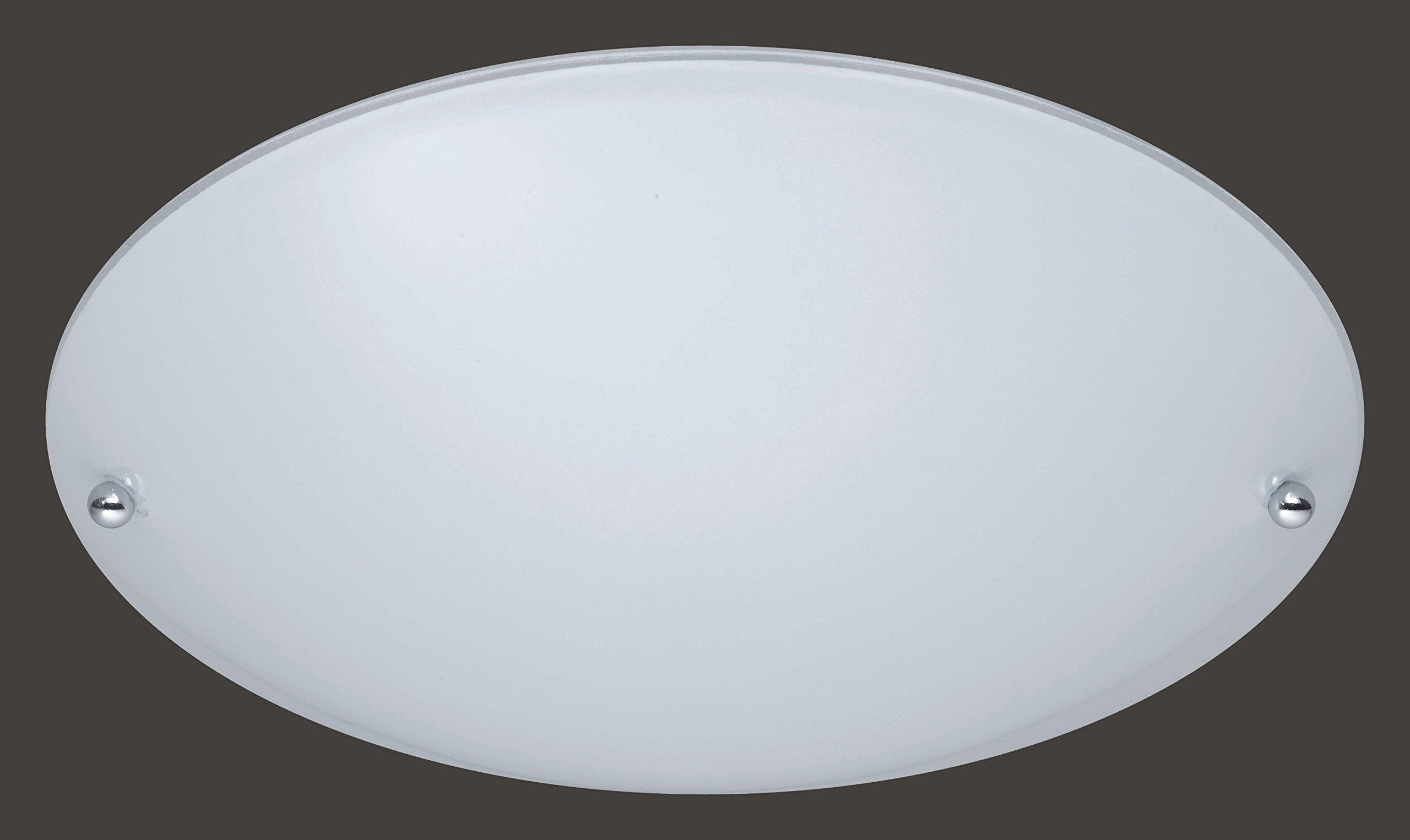Trio 6196011-01 Lampada da Soffitto, Vetro Opaco, bianco