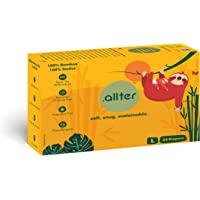 Allter Super Dry; Quick Absorb and Eco Friendly Organic Bamboo Diaper (White; Large) -24 Count(8-12 Kgs)