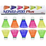 NONGI Plus Plastic Badminton Shuttlecock Pack of 10