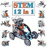 Juguetes Stem para niños de 8 años Kit de Robot Solar 12 en 1 Aprendizaje Educativo Ciencia Construcción de Juguetes con alic
